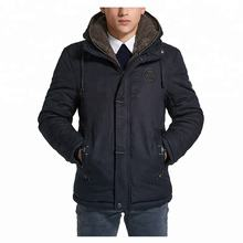 European Style Wholesale Windproof Cotton Men's Hooded Padded Coat