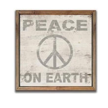 Wood Peace on Earth sign 13x13x2 Christmas decor plaques Holiday decor wall art