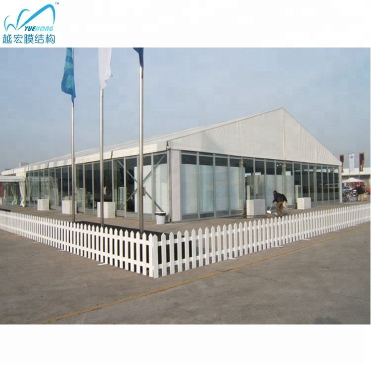 Glass solid sided wall frame permanent marquee tent