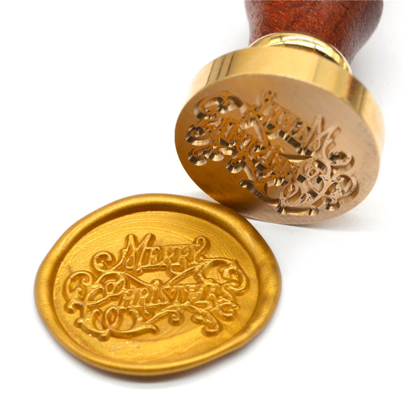 Classic alphabet retro wood sealing wax initial custom wax seal stamp