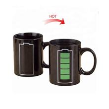 Wholesale white porcelain coffee magic cup ceramic color change mug with logo