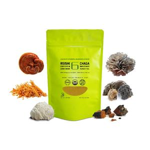 6 in 1 Powerful Mushroom Extract Powder - USDA Organic - Lions Mane, Reishi, Cordyceps, Chaga, Turkey Tail, Maitake Real Fruitin
