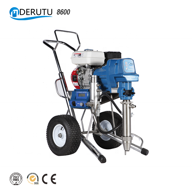 DERUTU 8600 Automatic Construction Machine Spray Wall Painting Plaster Machine