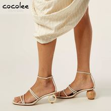 Point Toe Womens Unique Design Evening Party Irregular High Heels Shoes Sandal