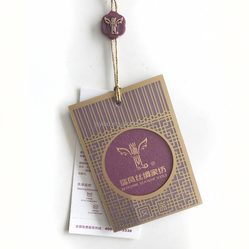 wholesale high quality custom paper hangtag