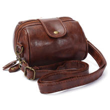 Fashion Women Brown Mini Cute Leather Lady Shoulder Handbag Camera Strap Bag Hot