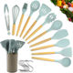 New Color Nylon Wood Wooden Silicone Cooking Tool Stainless Steel Kitchen Utensils Set