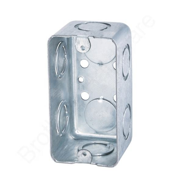 UL Listed 4X2 inch Rectangle Electrical Galvanized Iron Wall outlet Box