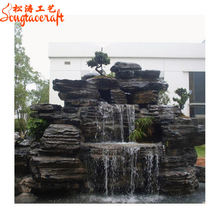 chinese garden decorations wholesale outdoor rock stone water watfall buddha fountains pens with pump waterfall for home garden