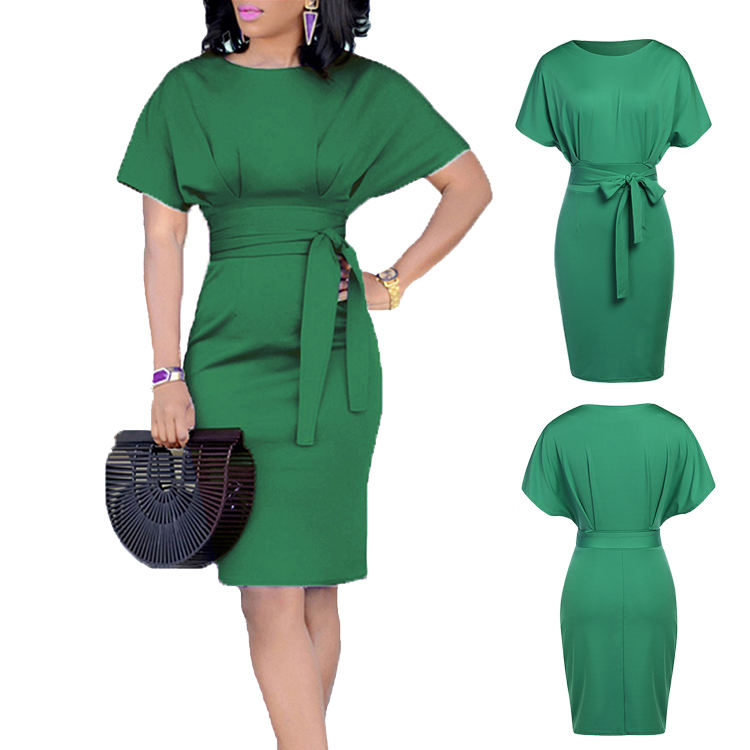 wholesale newest style keen length peplum ladies official dresses