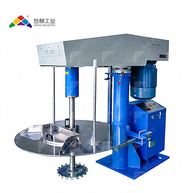 SIEHE liquid pigment disperser mixer with movable tanks