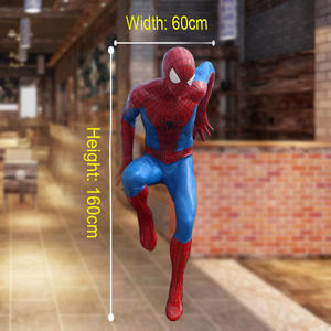 High quality fiberglass resin spiderman statue