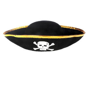 cheap promotion Halloween Skull Party Hat Polyester Material Printed Skeleton Hats Fabric captain morgan pirate hats guangzhou