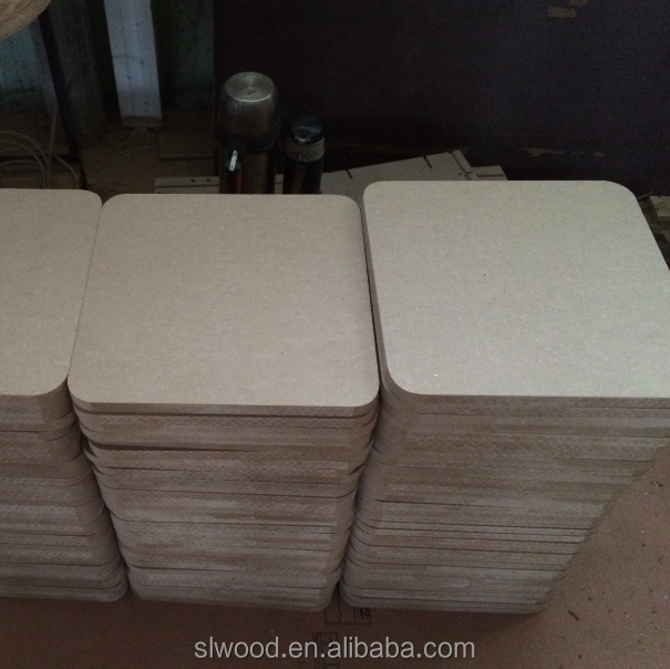 Circle MDF/Round MDF /10*20cm with 18mm thick and rounded corners.