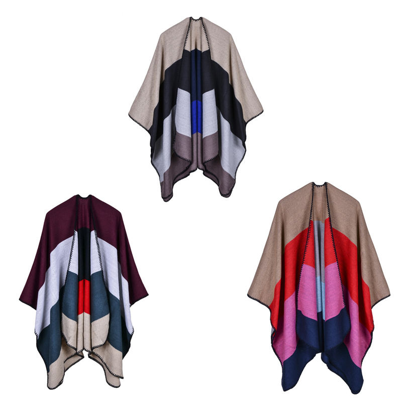 2017 New Women Winter Blanket Poncho Cape Women's Warm Cashmere Scarf and Capes Top Sale Ladies Shawl Stoles High QualtiyRO