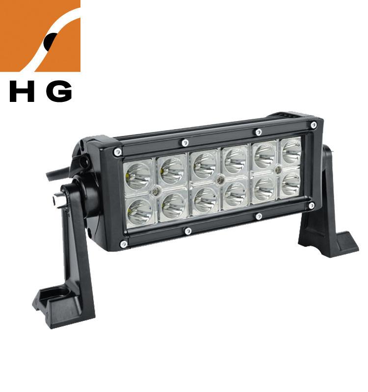 8 inch 36 w led işık bar dura row mini led lamba bar Jeep SUV ATV UTV kamyon traktör için araç araçlar