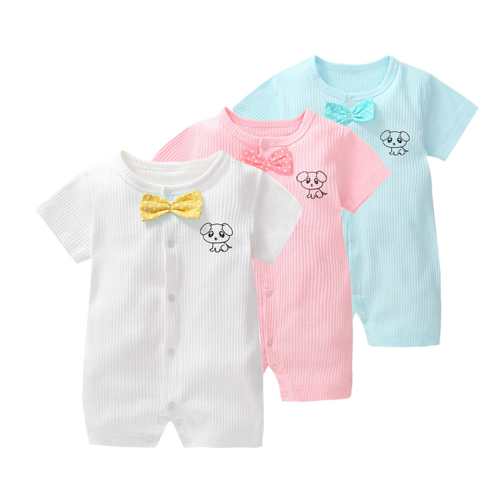 Pure Color New Design Baby Romper 부티크 신생아 옷
