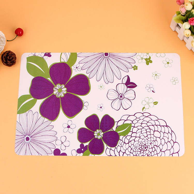 Colored eco-friendly plastic new PP lenticular uv printing 3d pp placemat