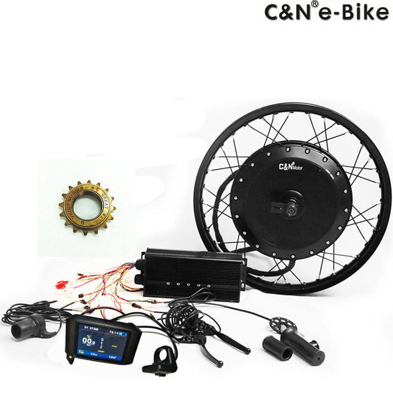 Biggest Promotion!!!Hottest 72v 8000w electric bike bicycle hub motor kit ebike conversion kit 120km/h