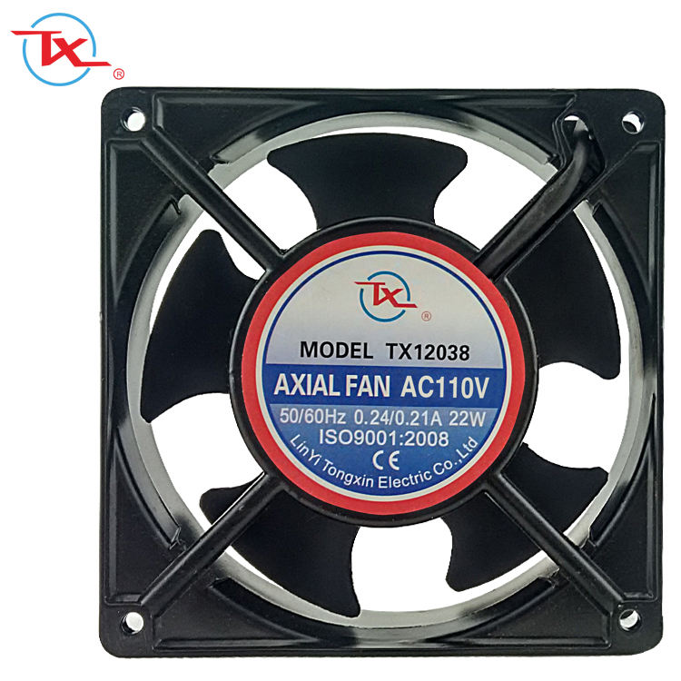China Manufacture Electrical AC Cooling Vane Axial Fan For Motor