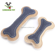 New Arrive Squeaky Dog Toys Linen Bone Shape Interactive Toys For Teddy