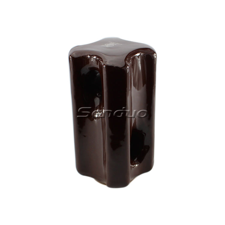 33KV brown electrical porcelain stay insulator 54-3