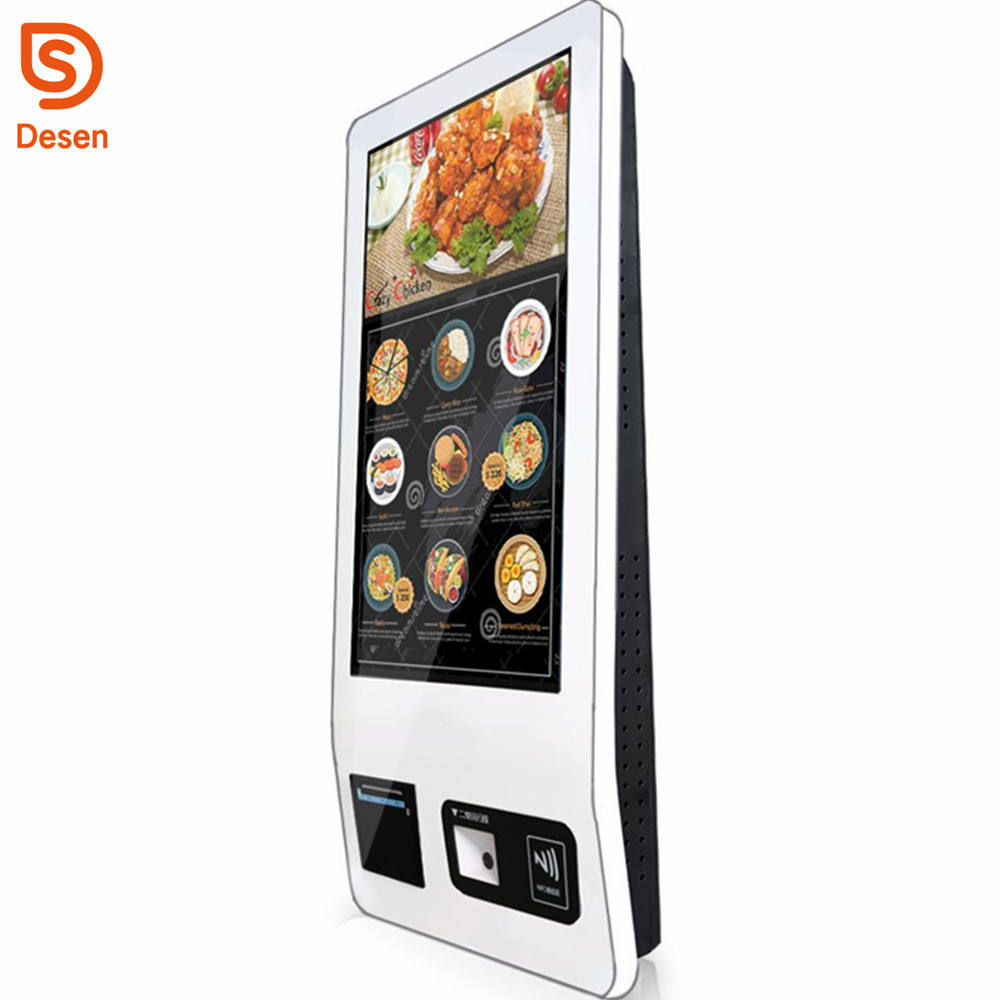 32inch Automatic Ordering Self Service Touch Screen Payment Kiosk With Thermal printer, scan QR code