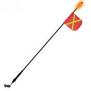 High Quality 12v Mine Whip Fiberglass Pole Flag Pole Whip Light For Truck Pickup Car bicycle