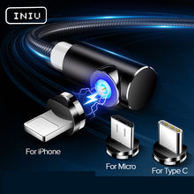 INIU dropship 1M Fast Magnetic Cable Micro USB Type C Charger For iPhone XS X for Samsung S8 Magnet Android Phone Cable Cord