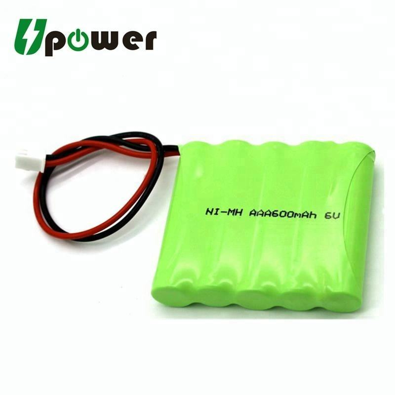 6V AAA Nimh Battery Pack Rechargeable Ni-MH 6V 600mAh Battery Pack with Customized Connector