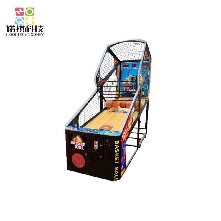 Coin operated street basketball shooting machine, basketball arcade game street hoops