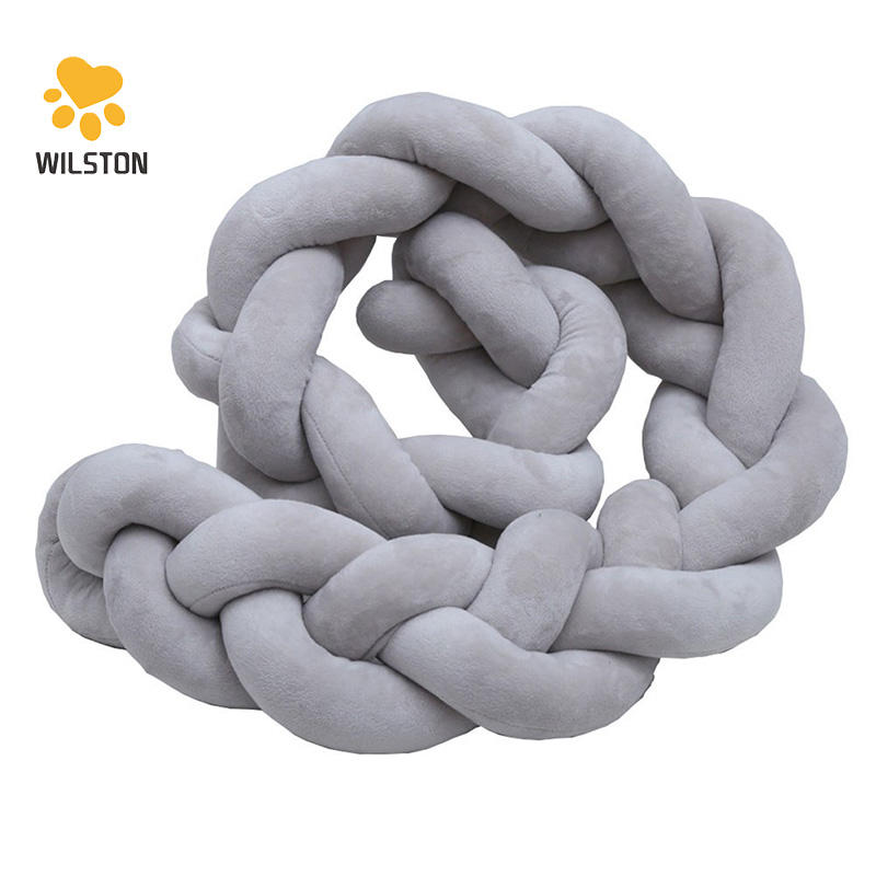 Hot sales soft long Knot Pillow Throw Pillow Plush Toy for Kids for Bedroom Decoration