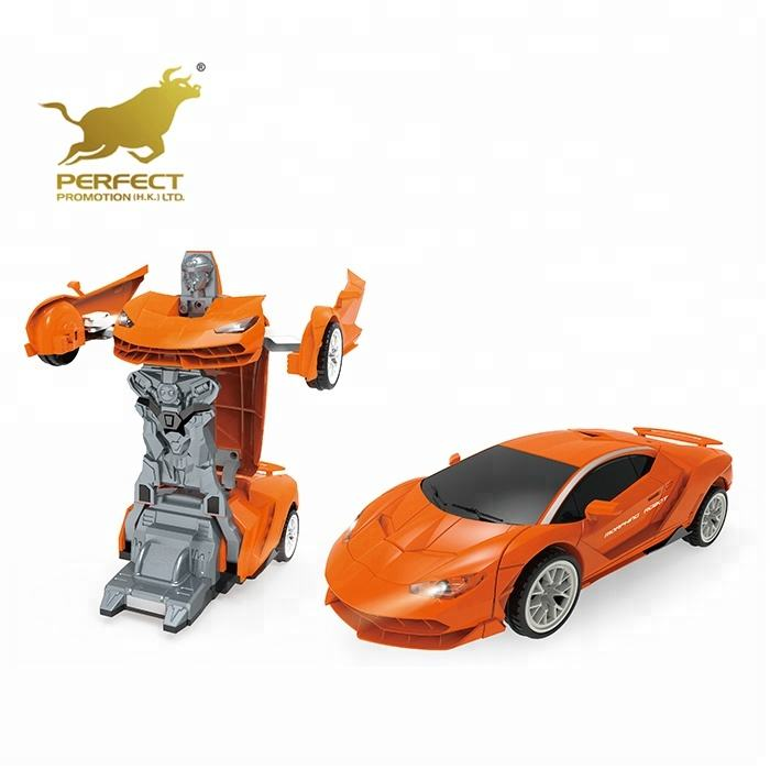 plastic universal wheel electric car transform toy deformation robot