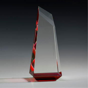 Red K9 peak crystal glass awards for Souvenir gift