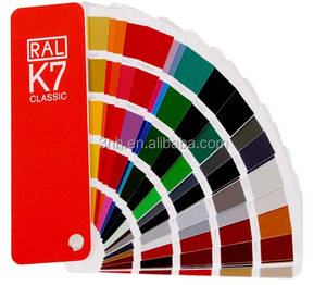 Coating Powder Color Guid Chart Ral k7 Color Card