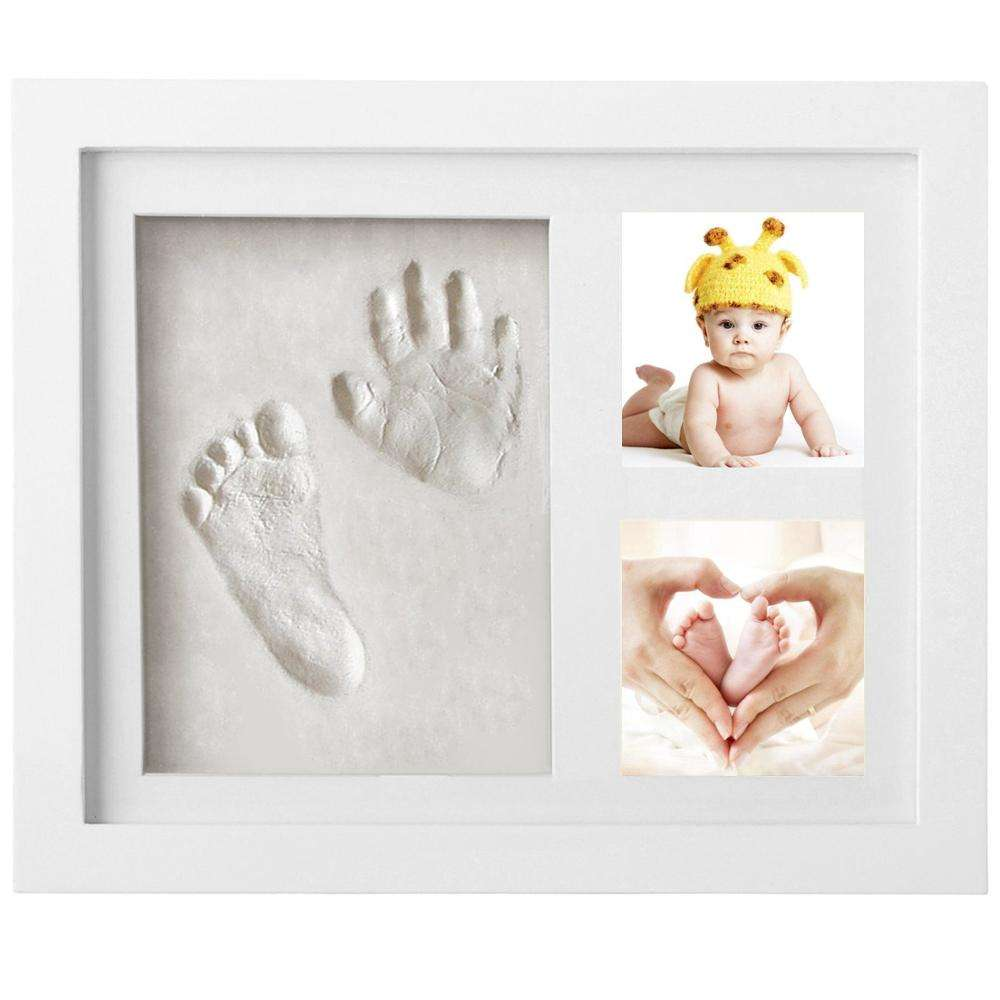 Baby Handprint Kit & Footprint Photo Frame / Personalized Baby Gift / Baby clay photo frame