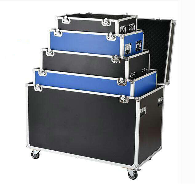 Aluminum flight / transport case in different volume with 4 wheels