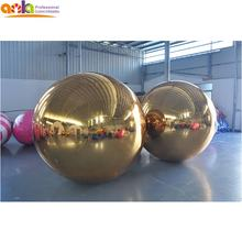 Can be printed 1.5 meter silver mirror ball, inflatable glod foil mirror balloon material for satges/party decoration