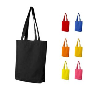 Customized Size Color Organic Cotton Tote Promotion Bag Cotton Bag With Zipper
