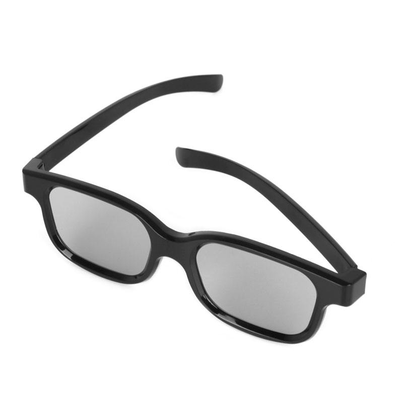 High quality Black Round Polarized 3D Glasses Movie DVD LCD Video Game Theatre TV Theatre Movie Circular Wholesale