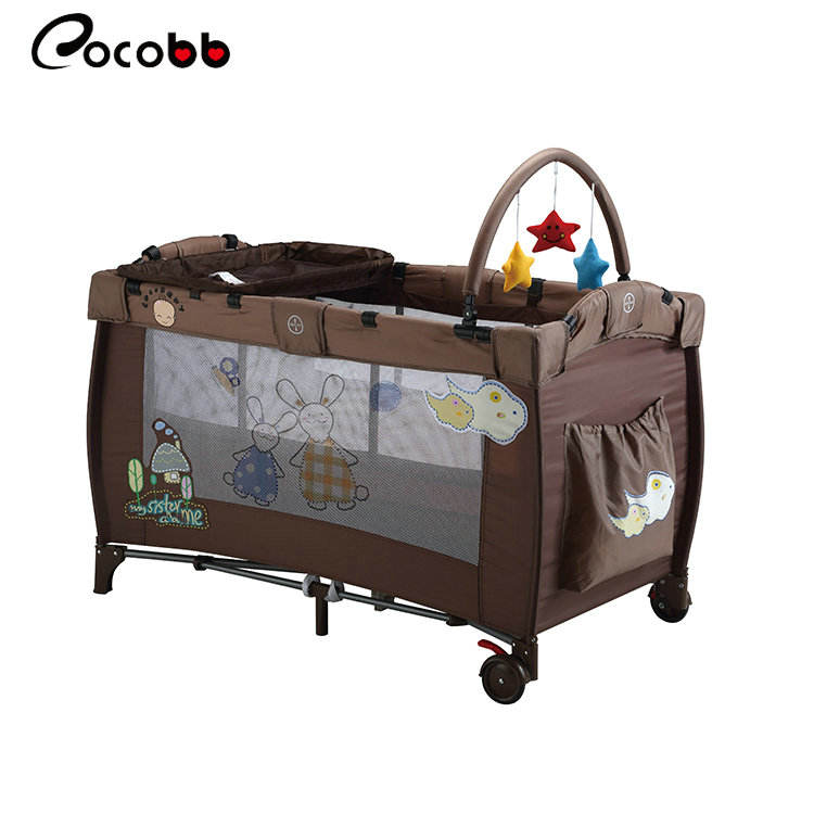 New design cheap price folding children crib baby cot bed