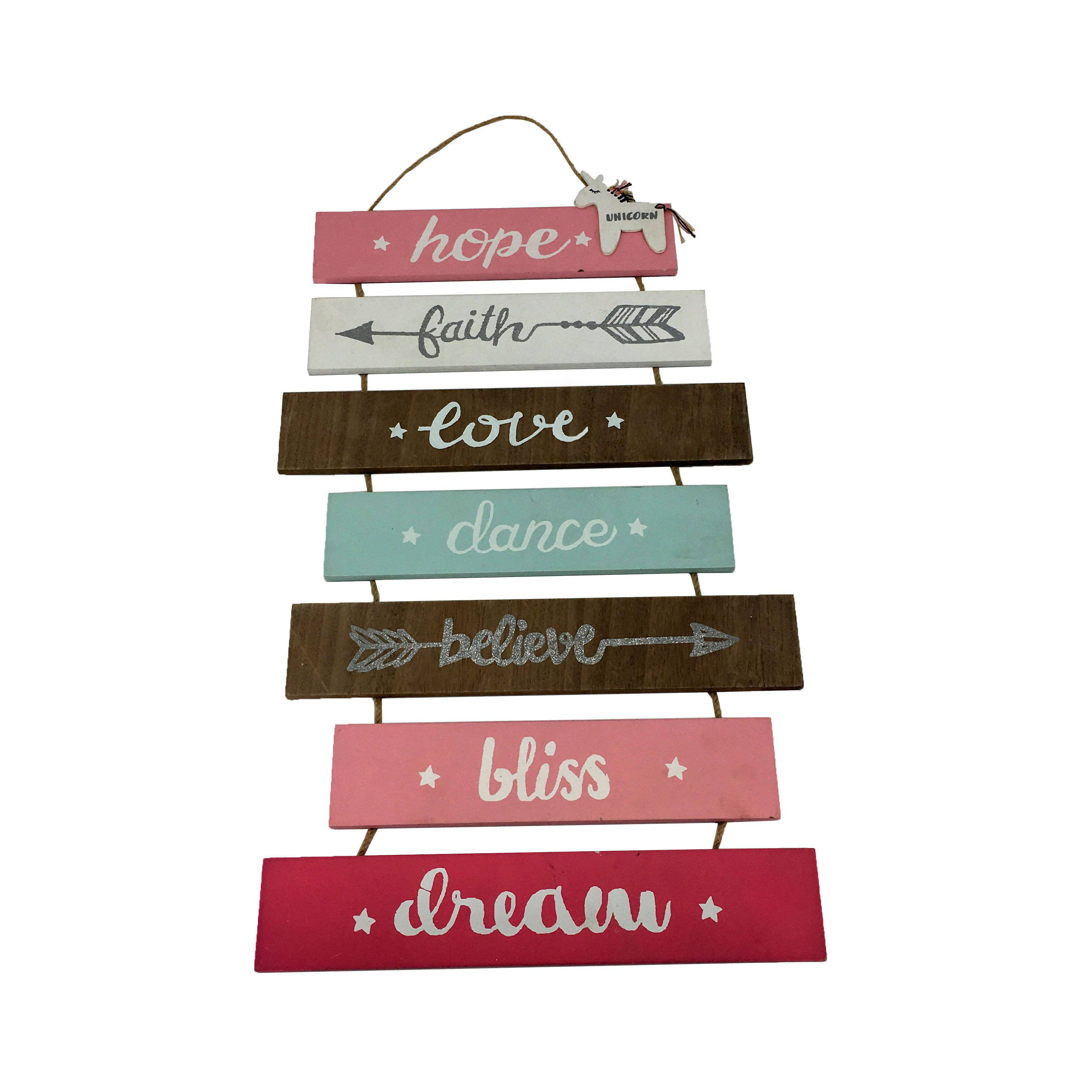 Wooden Craft Letter Home Wall Hanging Decor Sign Plaque