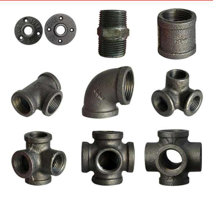 black malleable iron pipe fittings black 3/4 pipe fittings product 130R/equal
