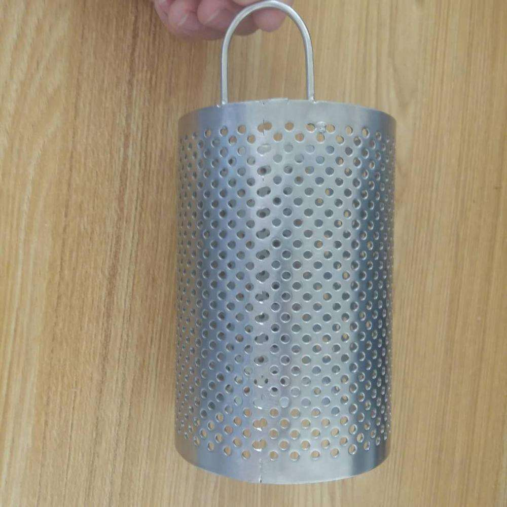 304 Stainless Steel Perforasi Logam Disesuaikan Filter Tabung/Cartridge/Silinder/Tabung