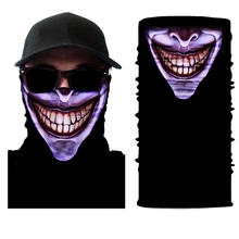 B578 Polyester Multifunctional Bandanas Face Scarf Skully Tube Sport Neck Gaiter Seamless Ghost Halloween Magic Bandanas