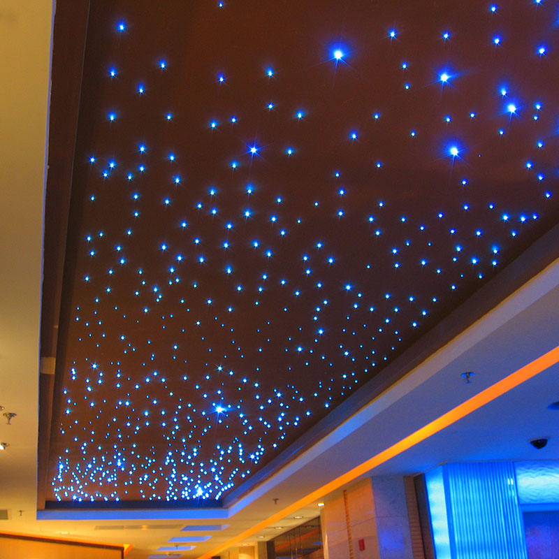 Guangzhou decorative star ceiling led black jacket fiber optic light kit for Restaurant Hall Ceiling Design