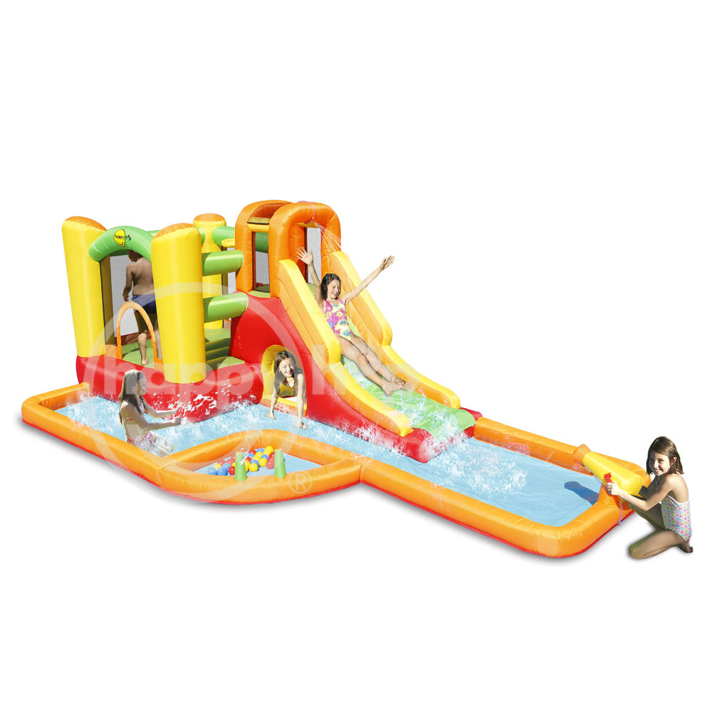 Happy hop 2017 new design Water Park Play Center-9281,inflatable bouncer and Water Slide Park for sale inflatable bouncer with w