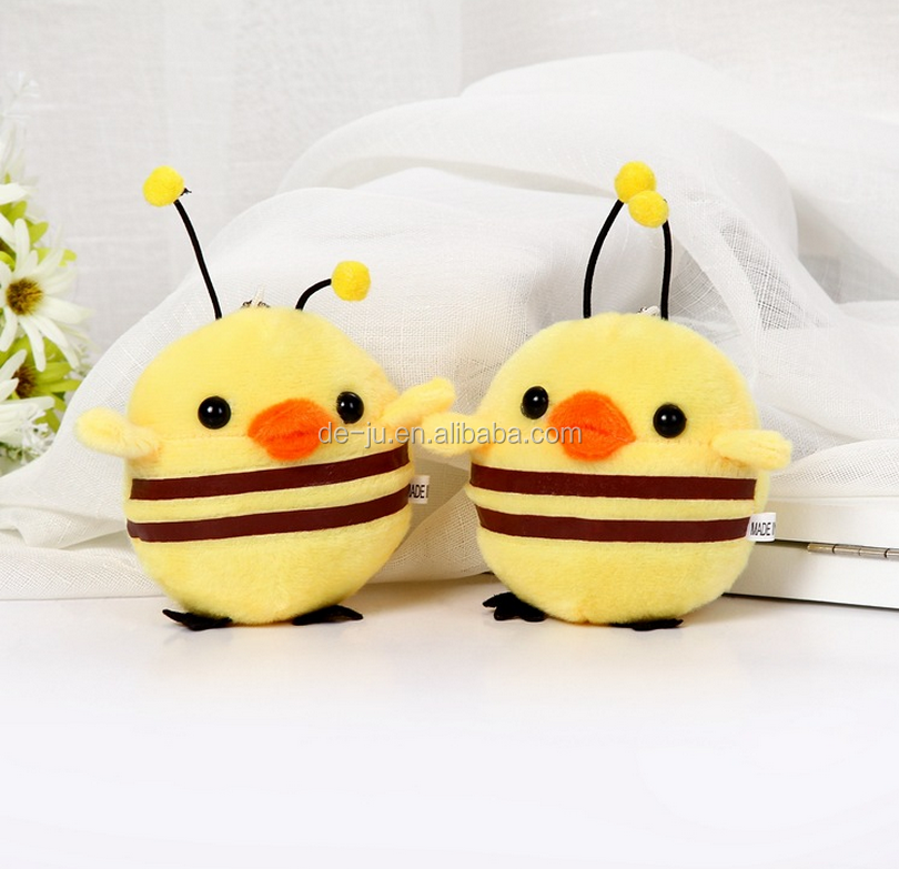 Japanese Anime Yellow Chicken Bee Plush Stuffed Toys
