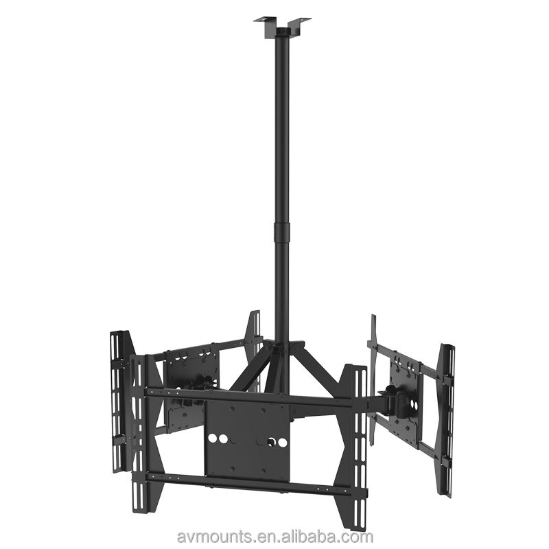 360 degrees swivel Removable Motorized electric tv bracket ceiling mount