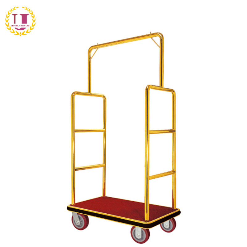 Commercial Hotel Bellhop Luggage Cart